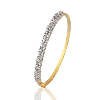 Heena Sparkling 2 line AD stone Bracelete by Heena Jewellery >> HJBC14 <<