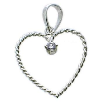 925 rhodium plated pendant
