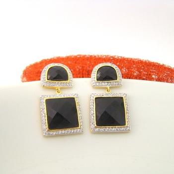 Black Square Fashion Earrings