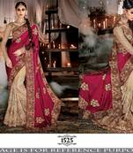 Buy Red embroidered georgette saree
