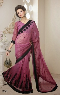 Beautiful Georgette Designer Sarees With Blouse