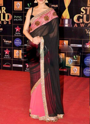 anushka sharma Indian Traditional Bollywood Designer Partywear saree, Designer Saree
