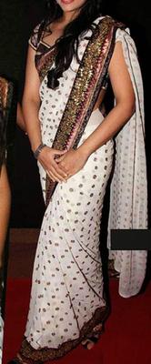 Sonakshi Sinha Indian Traditional Bollywood Designer Partywear saree, Designer Saree