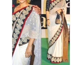Vidya Balan Indian Traditional Bollywood Designer Partywear saree, Designer Saree