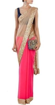 Bollywood Replica Indian Traditional Bollywood Designer Partywear saree, Designer Saree