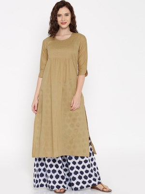 coffee printed cotton  kurti