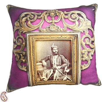 Rajas of Rajastani Digital Print Poly Velvet Cushion Covers