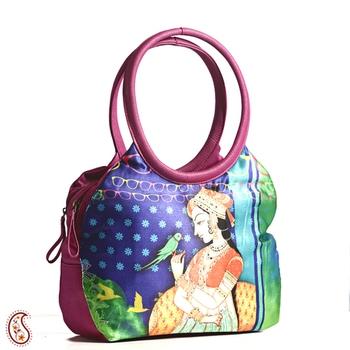 Royal Princess Digital Print Leather Tote bag