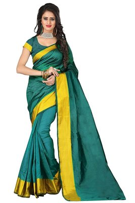 tagline sky blue letest cotton saree with blouse