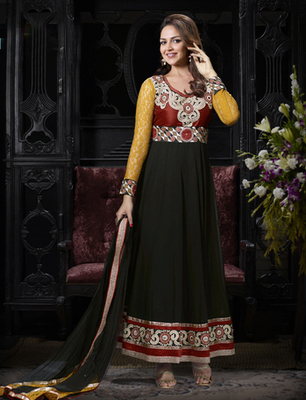Black Georgette Dress Material