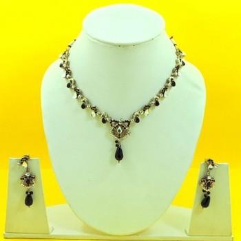 Designer Artificial Black Necklace Set