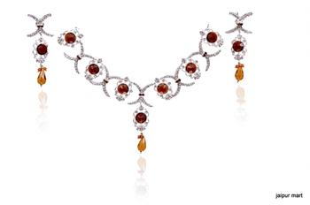 Latest Collection Golden Fashion Necklace set