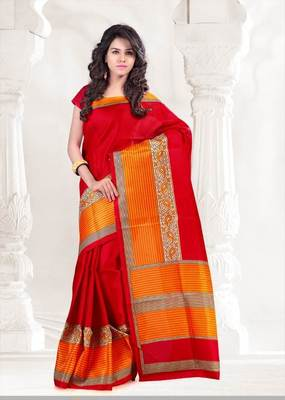 Beautiful art silk casual saree
