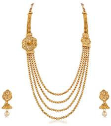 Exclusive Wedding Wear Gold Plated 4 Layer Necklace Set