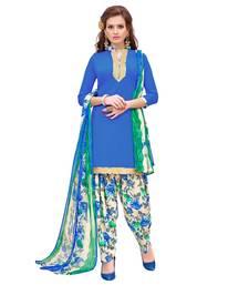 Blue Plain Crepe Salwar
