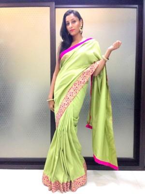 e866cfabdd Pista Green saree - Alina Couture - 298635