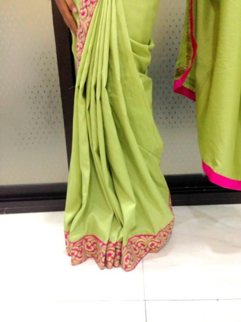 f87c44abfe Pista Green saree - Alina Couture - 298635