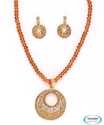 Vendee-Incredible fashion crystal pendant jewelry (3956)