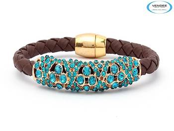 Vendee-Sky blue Diamond Bracelets (5718A)