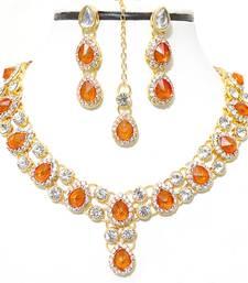 Orange diamond necklace-sets