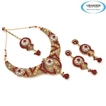 Vendee-Indian Traditional Fashion Womens Designer Necklace Set (6859)