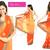 Sunset Bollywood Shaded Saree with Paisley Zari Work