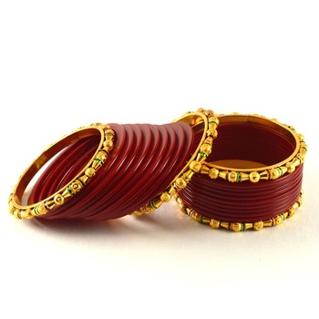 Beautiful  Bangles Colour Red