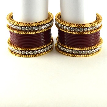 Outstanding Bangles Colour Maroon