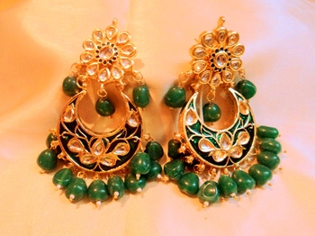 Royal Meena And Kundan Danglers