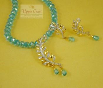 Kalgi Style Necklace Earring Jewellery Set