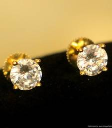 Gold Plated Solitaire Look Earrings