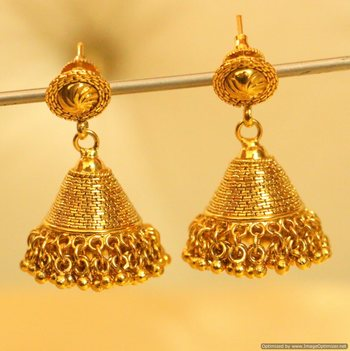Gold Plated Traditional Jhumka'S
