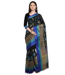 Black embroidered banarasi silk saree with blouse banarasi-silk-saree