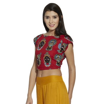 pink cotton stitched tops