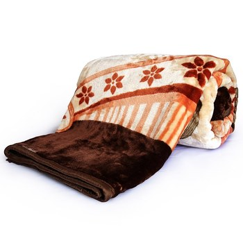 Luxurious Floral Designer Double Bed Mink Blanket