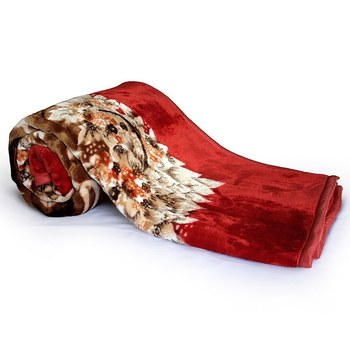 Designer Floral Print Double Bed Soft Mink Blanket