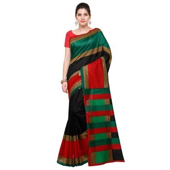 black printed bhagalpuri silk fashion bhagalpuri silk sarees with blouse