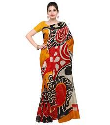 d276a22fb83 Buy mustard printed bhagalpuri silk fashion bhagalpuri silk sarees with  blouse bhagalpuri-silk-saree