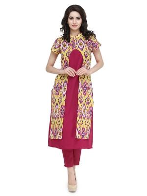 indibelle multicolor rayon printed kurta