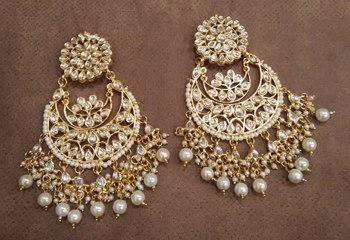 Long White Pearl Earrings