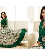 Buy Green embroidered georgette salwar