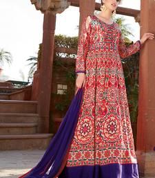 Buy Multicolor printed satin salwar long-dress online