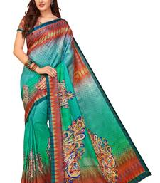 Buy Multicolor printed south silk saree with blouse pongal-dhoti-saree online