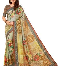 Buy Multicolor printed south silk saree with blouse south-indian-saree online