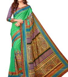 Buy Green printed south silk saree with blouse south-indian-saree online