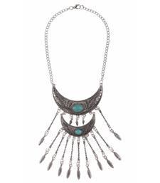 Buy Silver crystal necklaces Necklace online