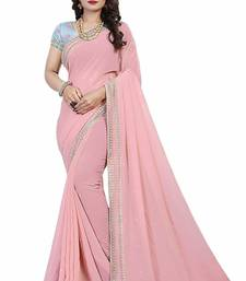 Buy Pink embroidery georgette saree with blouse great-indian-saree-festival online