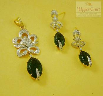 Handcrafted Tourmaline CZ Jewellery Set