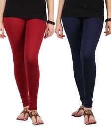 Multicolor Cotton Lycra  free size leggings