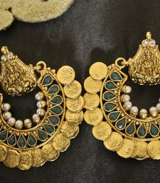 Buy Green colour Ram Leela Earrings hoop online